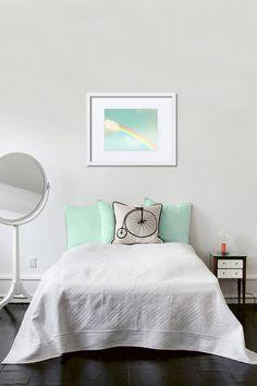 Rainbow photography whimsical blue sky 8x10 print