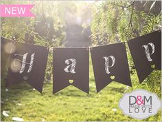Chalkboard bunting by D&M made with love