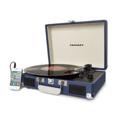 #this handsome, vintage-inspired Cruiser Turntable from Crosley
