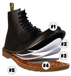 how dr martens shoes made?