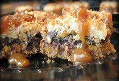 """Pumpkin DROOL Bars are gooey goodness that make for the best treats at Halloween. TwirlandTaste was featured in the """"Los Angeles Times"""" with this recipe. www.latimes.com/..."""