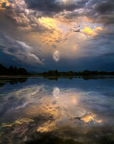 sky, art, sun risen, natur, cloud, risen reflect, beauti, storm, phil koch