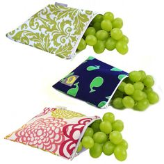 Reusable Snack Bags. Great idea!