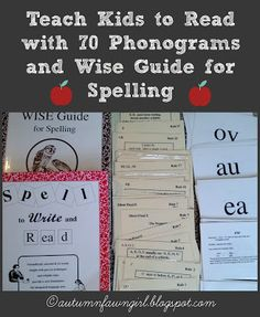 Autumnfawn Lane: 5 Days of Teaching Kids to Read: Phonograms & Spell to Write and Read