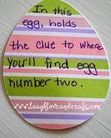 Easter Egg/Basket Scavenger Hunt Idea