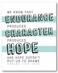 Romans 5:4 - new print perfect for a kid's room