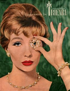 Trifari is one of my favorite affordable vintage jewelry makers. #vintage #jewelry