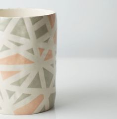 Grey & Peach Mosaic Vessel by Up in the Air Somewhere