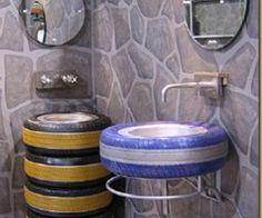 Tyre Recycle Art