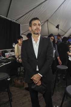The Designer Marc Jacobs backstage @ his Marc Jacobs spring summer 2013 #NYFW