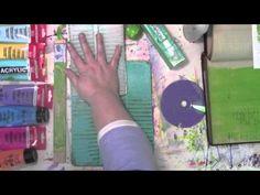 plate art, art journal, household junk, households, gelli print, carolyn dube, gelli plate, craft idea, junk journal tutorial