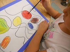 art spirat, art test, art project, art lesson, art idea, colors, calder, art cart, color theori