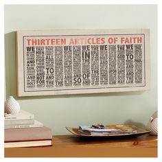 Articles of Faith Wall Art