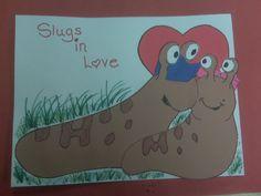 Slugs in Love crafts by Debbie Krohn