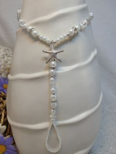 Destination Wedding barefoot sandal - pearl foot jewelry, anklet toe ring, bridal barefoot sandal, YOU CUSTOMIZE on Etsy, $25.57 CAD