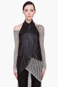 HELMUT LANG Slouchy Leather Vest