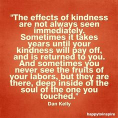 The effects of kindness.