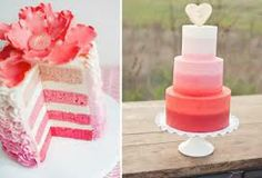 ombre, pink cakes, wedding ideas, ombré cake, pink weddings