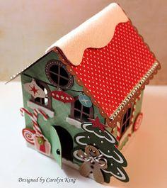 Gingerbread House, snow on the ridge pole line