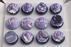 Tuptakes: Barbie themed cupcakes for a girl whose favorite color is purple!