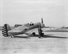 Curtiss XP-42  April 13, 1945 - Langley Research Center - Highly modified Curtis P-36A.