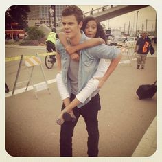 """Jack Quaid posted this on instagram: """"Getting around Comic Con with Amandla Stenberg""""( love how well the cast got along!)"""