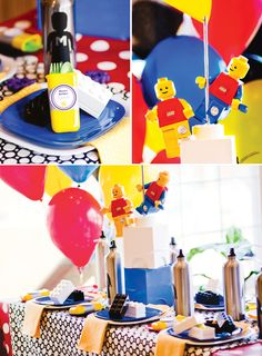 "Fantástica fiesta de Lego ""Constructor Master"":: Fantastic ""Master Builder"" Lego birthday party"
