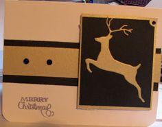 Memory Box Leaping Deer die cut.