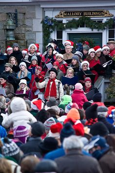 Join us for the 57th annual Community Carol Sing at Mystic Seaport on Sunday December 23, 2012 at 3 pm. Free Museum admission will be given to visitors all day with the donation of a non-perishable canned good item! All items will be donated to and distributed by the Pawcatuck Neighborhood Center.