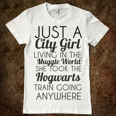 She took the Hogwarts Train..yeah, you bet I sang this out loud