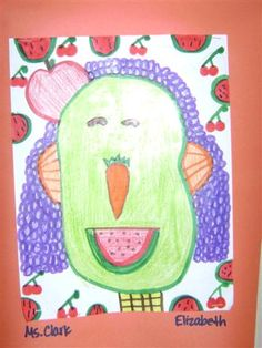 Finding My Marbles: Hello Fruit Face! Elementary Art Lessons