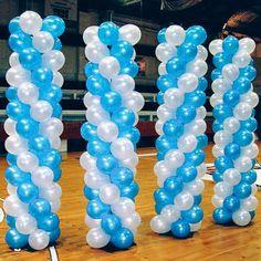 columnas de globos globo columna, columna de, con globo, de globo, decoración con