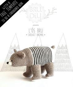DIY pack: eco-cotton crochet bear | BruDiy