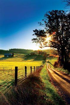 ... dirt roads and sunshine