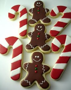 Candy canes and gingers.......
