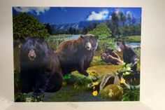 3D Poster Black Bear at theBIGzoo.com, an animal-themed store established in August 2000.
