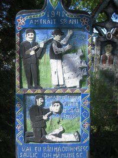 Merry Cemetary (Săpânţa/ Romania)...glad I wasn't this guy.