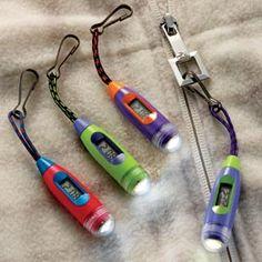 Zipper-Pull Watch/Light, Safety Light, LED Flashlight   Solutions