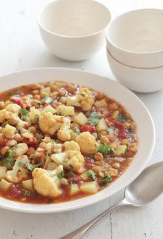 Chickpea, Cauliflower, and Potato Curry