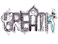 Purple Heart Yoga » Breath Yoga Zentangle; Purple Heart Yoga Zentangle designs may be purchased as a poster or greetings card.
