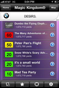 app with wait times for Disney World rides in real time, for that future Disney World trip