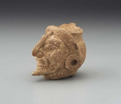 Human head fragment, Late Classic period A.D.