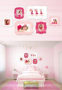 © Heidi Hope Photography - Organic Bloom Wall Decorating - Ariana Falerni. Home Decor Ideas. Photo Display Idea / Bedroom