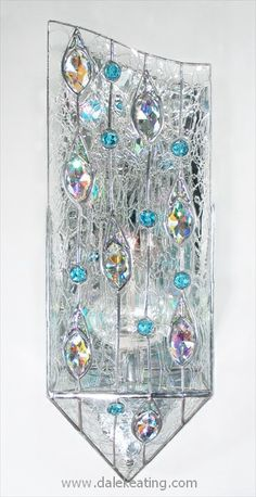 Stained Glass Candle Sconces on Pinterest