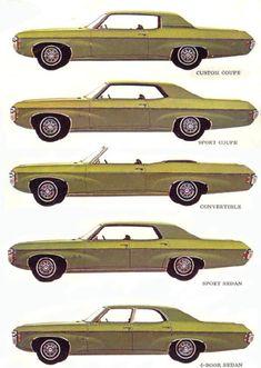 The 1969 Impala body styles