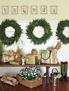 TidbitsTwine Boxwood Wreath Wall Decor Decorating with Preserved Boxwood