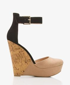 Colorblocked D'Orsay Wedges