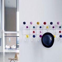 Classic Eames Hang-It-All coat rack.