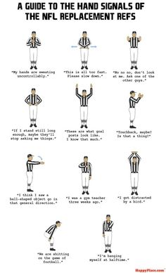 Tastefully Offensive: Hand Signals of the NFL Replacement Refs