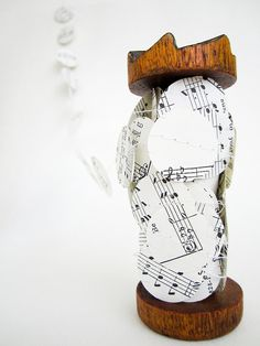 Vintage music sheet paper garland. Home decor.
